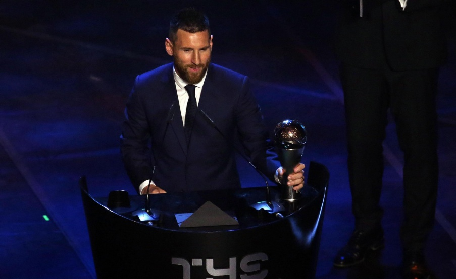 Lionel Messi ganó su primer premio The Best(EFE)