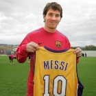 Lionel Messi con la camiseta de los Lakers