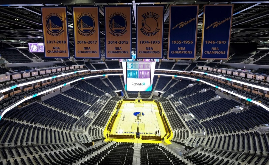 El estadio de los Golden State Warriors vacío por el coronavirus(Prensa Warriors)