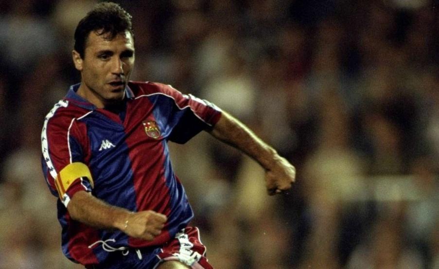 Hristo Stoichkov jugó en el Barcelona desde 1990 hasta 1998(EFE)