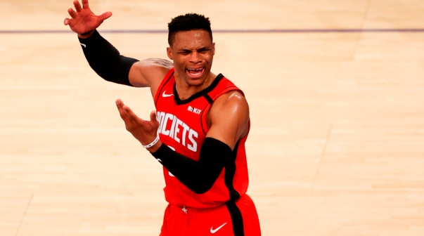 Houston Rockets guard Russell Westbrook tested positive for coronavirus