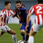 Lionel Messi en el partido ante Athletic Bilbao