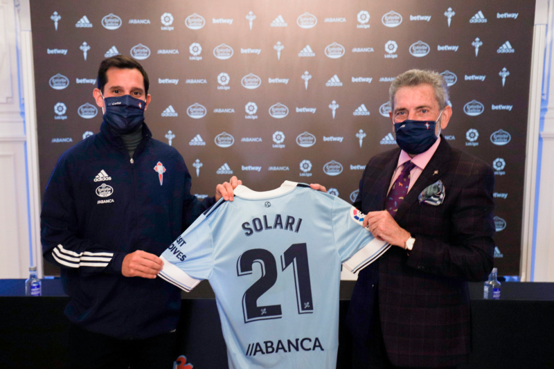 Augusto Solari usará la camiseta número 21 en Celta
