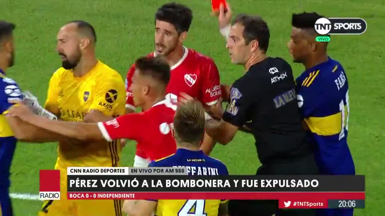 Resultado de imagen para Luego de la expulsión en la Bombonera, Pablo Pérez podría irse de Independiente